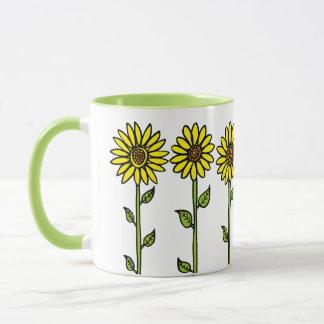 Sunflowers and Bumble Bee Mug