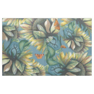Sunflowers and Butterflies Fabric