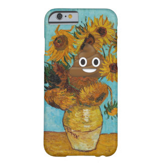 Sunflowers and Happy Poop Barely There iPhone 6 Case