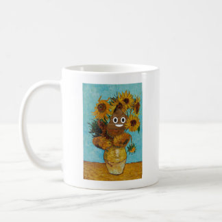 Sunflowers and Happy Poop (Lefty) Coffee Mug