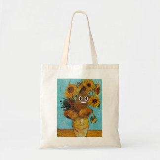 Sunflowers and Happy Poop Tote Bag