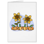 Sunflowers and Pumpkins Greeting Cards