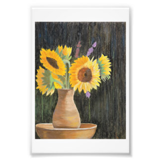 Sunflowers and Shadows Photo Print