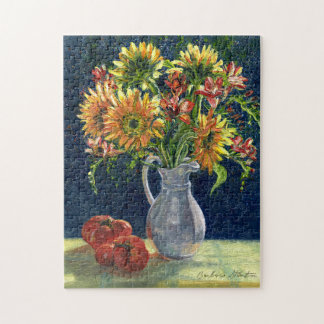 """Sunflowers and Tomatoes"" Jigsaw Puzzle"