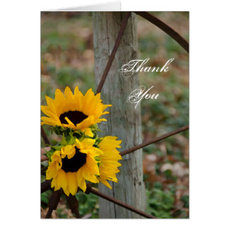 Sunflowers and Wagon Wheel Bridesmaid Thank You Card
