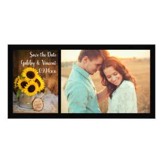Sunflowers and Watering Can Wedding Save the Date Card
