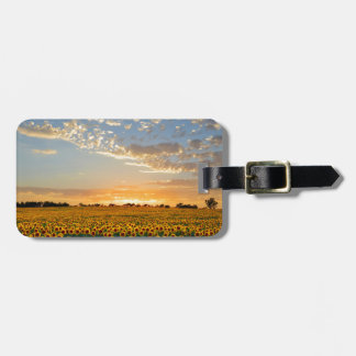 Sunflowers at Sunset Luggage Tag