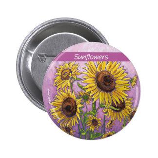 Sunflowers Pinback Button