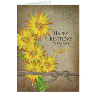 Sunflowers - Birthday - Someone Special Card