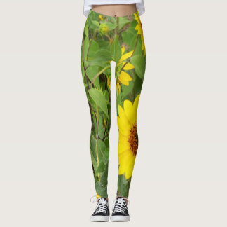 Sunflowers Blowing In The Wind, Leggings