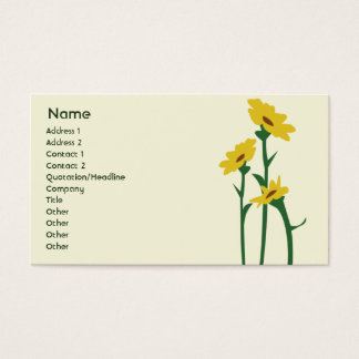 Sunflowers - Business Business Card
