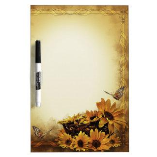 Sunflowers & Butterflies Dry Erase Board