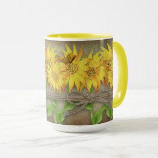 Sunflowers & Butterfly Mug