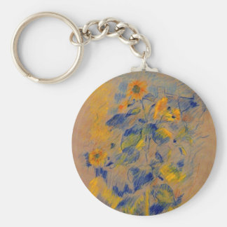 Sunflowers by Berthe Morisot Key Chain