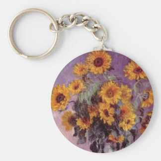 Sunflowers by Claude Monet Key Ring