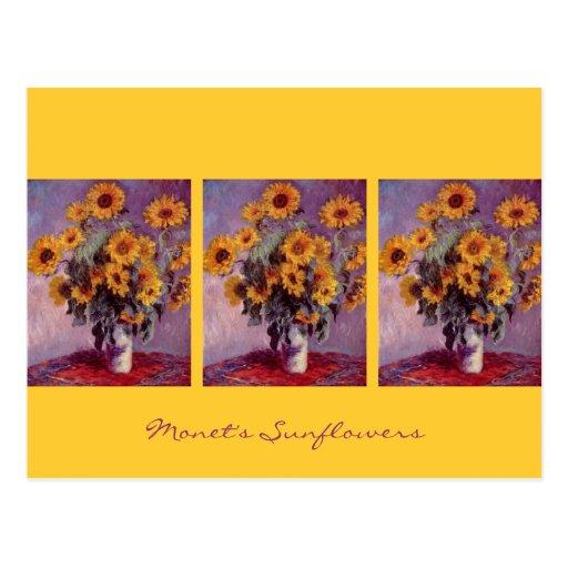 Sunflowers by Claude Monet Postcards