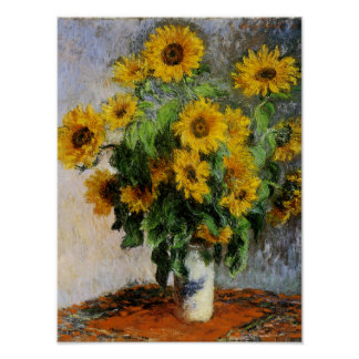 Sunflowers by Monet Poster