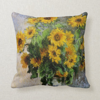 Sunflowers by Monet Throw Pillow