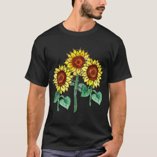 SUNFLOWERS by SHARON SHARPE T-Shirt