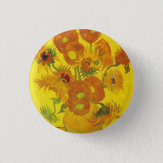 Sunflowers by Vincent van Gogh 3 Cm Round Badge