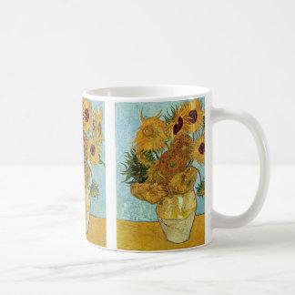 Sunflowers by Vincent Van Gogh Basic White Mug