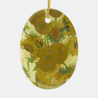 Sunflowers By Vincent Van Gogh Ceramic Ornament