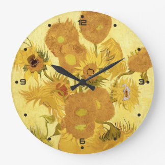 Sunflowers by Vincent van Gogh Large Clock