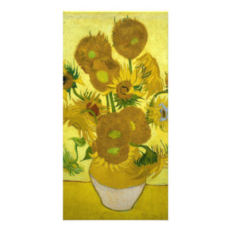 Sunflowers by Vincent Van Gogh Customized Photo Card