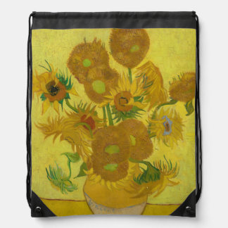 Sunflowers by Vincent van Gogh Drawstring Backpack