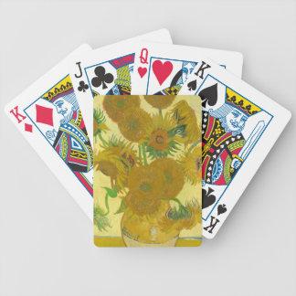 Sunflowers by Vincent van Gogh Poker Deck