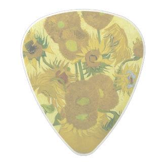 Sunflowers by Vincent Van Gogh Polycarbonate Guitar Pick