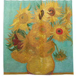 Sunflowers by Vincent Van Gogh Shower Curtain
