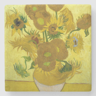 Sunflowers by Vincent Van Gogh Stone Coaster
