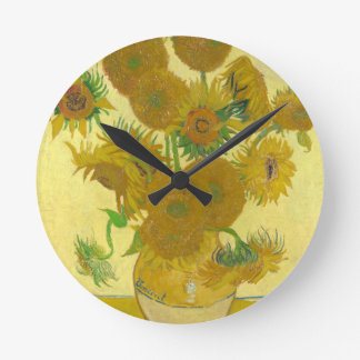 Sunflowers by Vincent van Gogh Wall Clocks