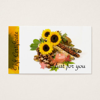 Sunflowers Candle Relaxation | Spa Massage Therapy Business Card