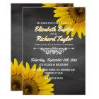 Sunflowers Chalkboard Rustic Country Wedding Card