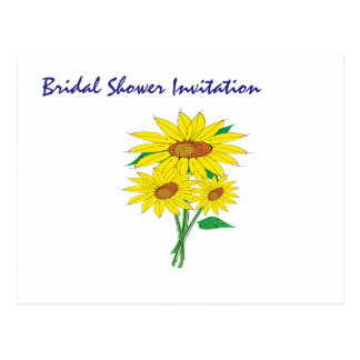Sunflowers Cheap Inexpensive Bridal Shower Party Postcard