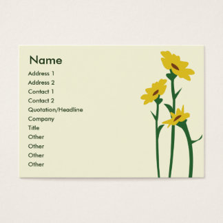 Sunflowers - Chubby Business Card