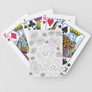 Sunflowers Coloring Page Bicycle Playing Cards