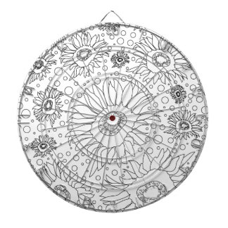 Sunflowers Coloring Page Dartboard