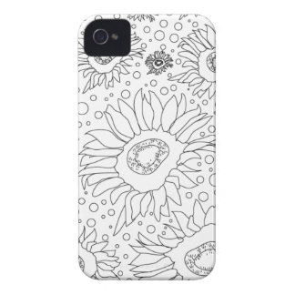 Sunflowers Coloring Page iPhone 4 Cases