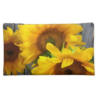 Sunflowers Cosmetics Bags
