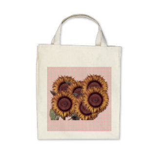 Sunflowers design tote tote bags