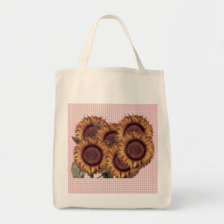 Sunflowers design tote grocery tote bag