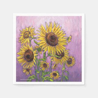 Sunflowers Disposable Napkin