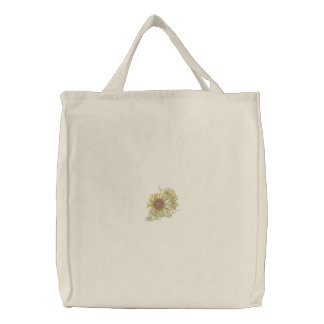 Sunflowers Embroidered Tote Bags