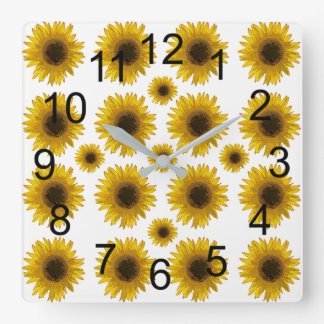 Sunflowers Everywhere Country Wall Clock