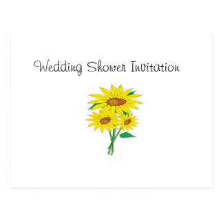 Sunflowers Favors Ideas, Wedding Shower Theme Postcard