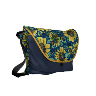 Sunflowers, Floral Art Customizable Messenger Bag