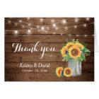 Sunflowers Floral Mason Jar Lights Thank You Card